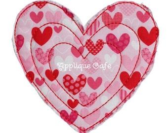 056 Heart Machine Embroidery Applique Design