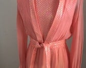 Long Vintage 1970s Formal Prom Gown