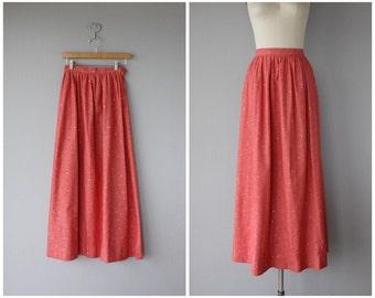 1970s Maxi Skirt | Vintage Chambray Skirt | Chambray Maxi Skirt | Vintage 70s Skirt | 70s Maxi Skirt | Red Maxi Skirt