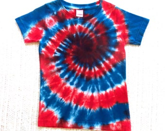 CLEARANCE - 40% OFF!  Girl's Tie-dye T-shirt, Size XS (4 / 5), red white blue