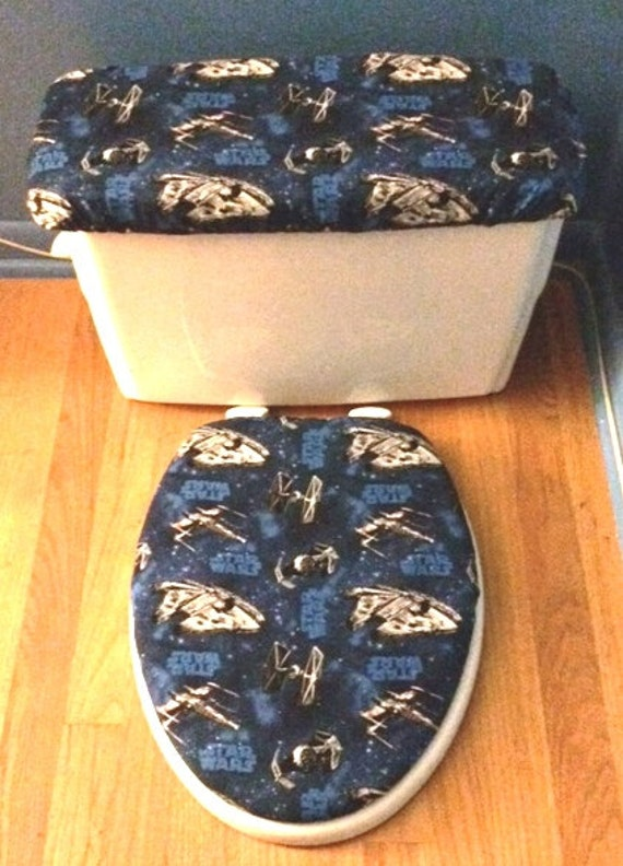 Star Wars Toilet Seat Cover And Tank Lid Cover Set