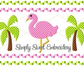 Flamingo Faux Smocking Machine Embroidery Design
