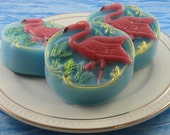 Soap - Pink Flamingo Goat Milk Glycerin Soap - Handcrafted - SoapGarden