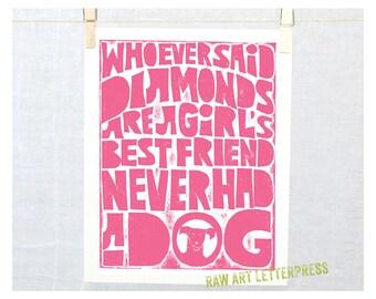 Art for Girls, Girl room art, Dog Lover, Pet lover, dog memorial, gift from dog, pet loss, pet sympathy, wall art, teen girl gift