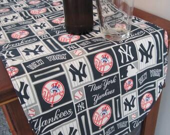Yankees Table Runner 36 Inch Reversible Blue Stars Table Runner MLB Table Runner New York Yankees Table Runner NY Yankees Gift Yankee fan