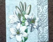PN - 45. Lily, * Price is for one napkin *, Collectibles Scrapbooking, napkins for decoupage, Paper Napkins