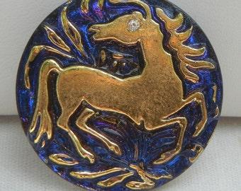 Horse Czech Glass Button