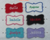 Personalized Name Patch Fabric Embroidered Iron On Applique Patch MADE TO ORDER