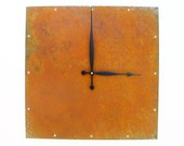 Square Wall Clock (Extra Large Rusted)