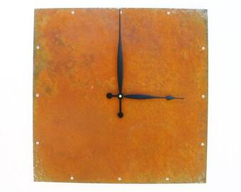 Square, Large Wall Clock, Rustic Wall Clock, Unique Wall Clock, Modern Home Decor, Steampunk Metal Art, Industrial, Laser Cut, Big, Huge