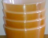 Fire King Peach Lustre Custard Cups (4)