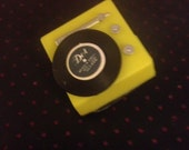 Yellow Record Player Brooch