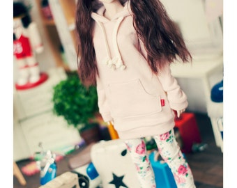 DD Long Hooded-T -Indi Pink