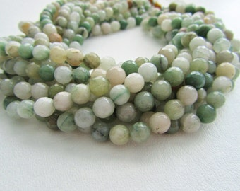 Aventurine Faceted Rounds 8mm Full Strand Disco Ball Shaded Multicolor Green