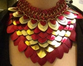 Colorful scale maille necklace