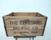 Rustic Crate Box Vintage Standard Brewing Cleveland, Ohio