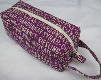 Wine Lover Cosmetic Bag Makeup Bag LARGE