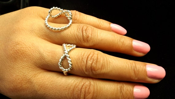 Sterling Silver Rope Infinity Ring