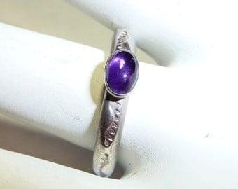 Southwest Native American Sterling Silver & Amethyst Ring on Etsy by APURPLEPALM