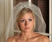 Wedding Veil - Short Veil, Tulle and Russian Net Shoulder Veil - Ivory or White