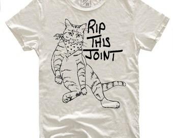 Rip This Joint, 100 Percent Cotton T-shirt, Vintage White, unisex