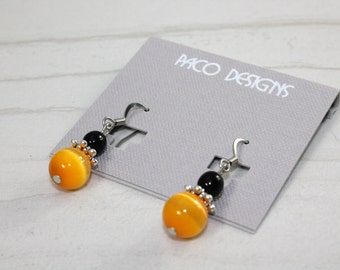 Black and Gold Drop Earrings Missouri Tigers Pittsburgh Steelers Iowa Hawkeyes