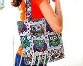 Owl tote - Owl Tote Bag / Owl diaper bag / Owl baby bag / Owl handmade bag - Owl purse