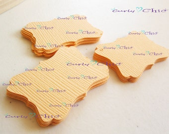 "36 Rectangle Bracket IV Tags Size 1.50""x1"" -Rectangle Bracket Labels -Bracket paper die cuts -Bracket cardstock labels -Paper tags"
