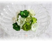Mulberry Flowers~Sweetheart  Blossoms Greens~ Set of 10 for Scrapbooking, Cardmaking, Altered Art, Wedding, Mini Album