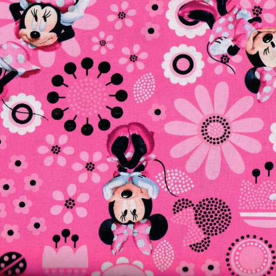 Minnie mouse fabric buy it by the yard for Purchase fabric by the yard