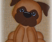 Sitting Cute Dog Premade Scrapbooking Embellishment Paper Piecing
