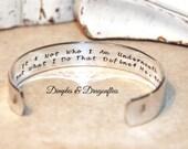 Batman | Quote Bracelet | Inspirational | Friend Gift | Birthday Gift | Hand Stamped | Secret Message Bracelet | Handmade Jewelry