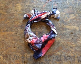 Buy 1 + Get 1 FREE = Mystic Motion Scarf, Navy Grey Coral Scarf, Light Weight, 100% Cotton Scarves, Gift Ideas for Her Women, Accessories M