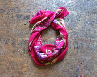 Buy 1 + Get 1 FREE = Flower Leopard Print Scarf, Pink Purple Green Scarf, Light Weight, 100% Cotton Scarves, Gift Ideas for Her Women