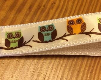 Adorable Owls Key Fob Keychain wristlet