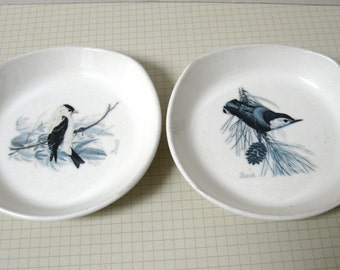 Set of Two (2) Protect Our Songbirds Dishes - National Wildlife Federation