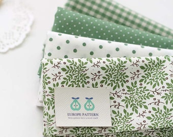 Pure Green Cotton FAT Eighth set of 4, U252