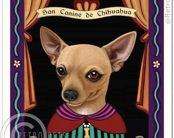 8x10 Chihuahua Art - Patron Saint of the Napoleonic Complex - Art print by Krista Brooks