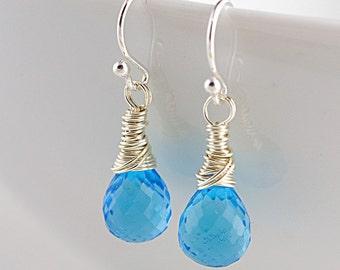 Sky Blue Quartz Earrings