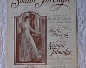 1919 Art Deco Smilin' Through Norma Talmadge Silent Era Souvenir Edition Play Photoplay Sheet Music Vintage Starmer Art