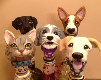 Five Custom Dog Sculptures