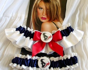 Texans Wedding Sports Garters Wedding Theme Garter