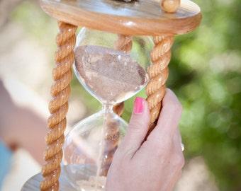 Heirloom Wedding Hourglass - The Acorn Oak Wedding Unity Sand Ceremony Hourglass