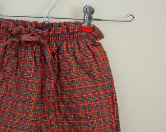 Vintage Girl's Plaid Quilted Pants by Health-tex - Size 2T