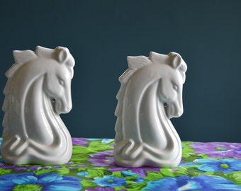 Vintage White Ceramic Horse Head