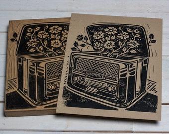Vintage Nashville Sounds - Block Print