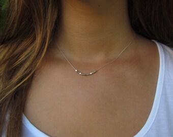 Silver Necklace, Silver Minimalist Necklace, Dainty Silver Necklace, Simple Silver Necklace, Layering Necklace, Modern Necklace