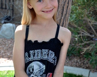 The RAIDERS UPCycled T Shirt Dress One Size Fits 2T - 6 Original Design