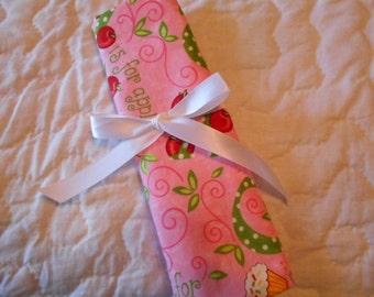 Pink Fun Print Crochet Hook DPN Case Yarn Organizer-29