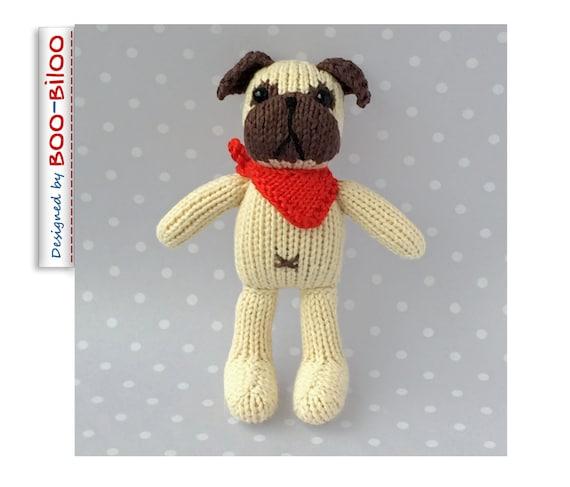 Petras Pug toy knitting pattern